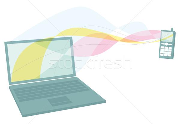 携帯電話 ノートパソコン 通信 ワイヤレス ストックフォト © curvabezier