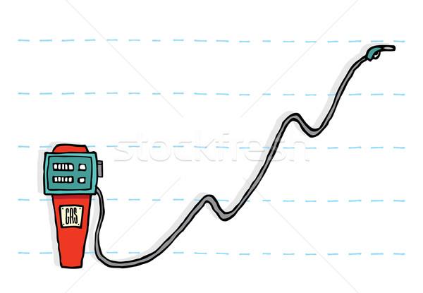Olaj benzin ár emelkedő üzlet Stock fotó © curvabezier