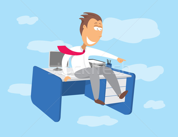 Flying desk / Career opportunities Stock photo © curvabezier