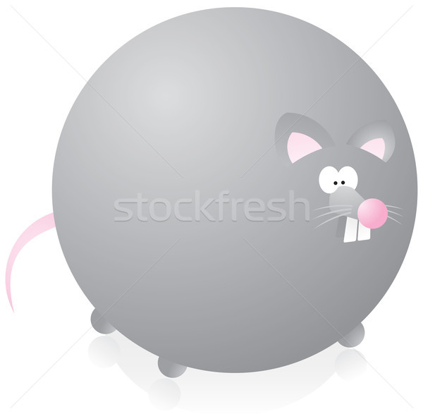 Cute overweigthed rat Stock photo © curvabezier