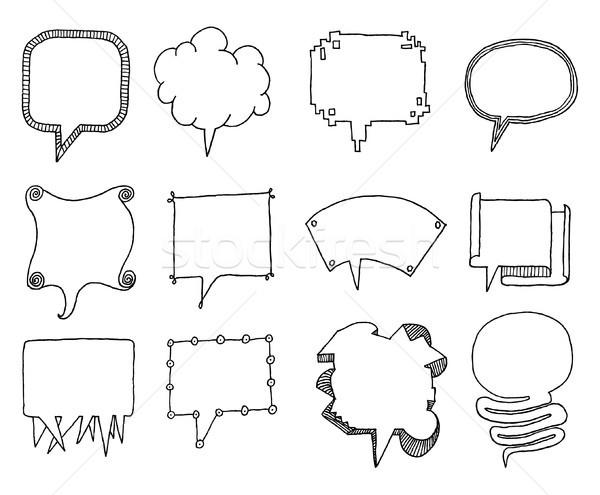 Set of vector speech bubbles Stock photo © curvabezier