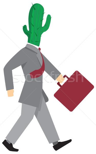 Hebzuchtig zakenman lopen alleen business mannen Stockfoto © curvabezier