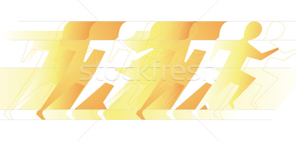Runners at high speed Stock photo © curvabezier