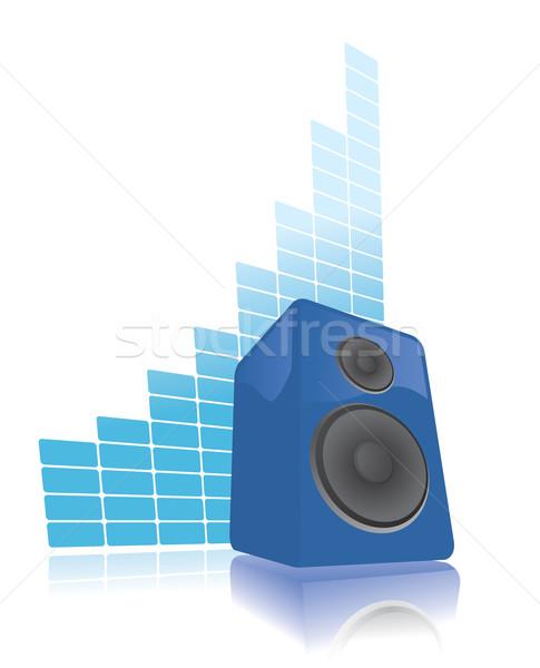 Speaker raising volume Stock photo © curvabezier