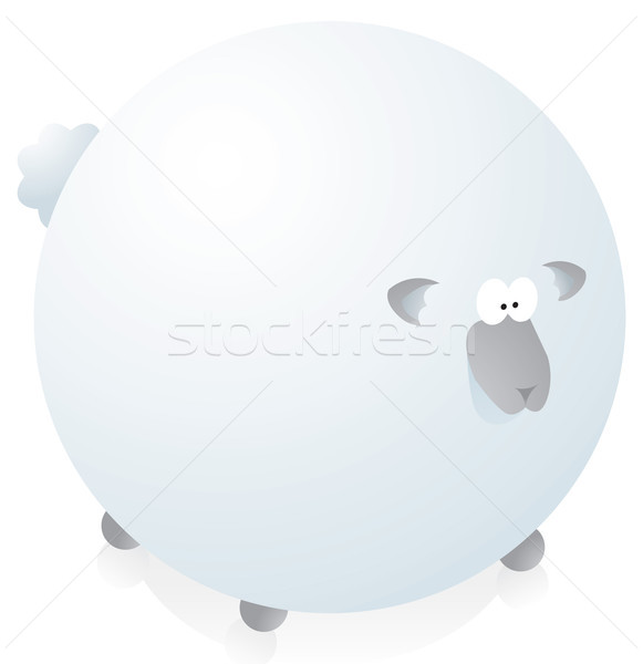 Overweighted round sheep Stock photo © curvabezier