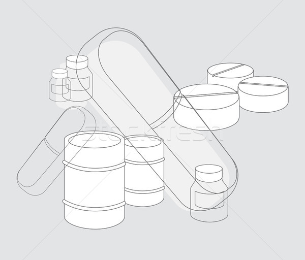 Medicine pills / Pharmaceutic Industry supplies Stock photo © curvabezier