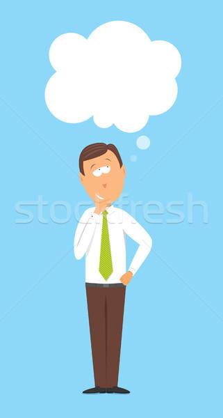 Pensando empresário criador negócio Foto stock © curvabezier
