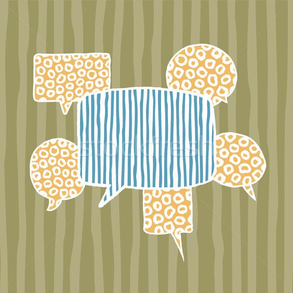 ベクトル 吹き出し 創造的思考 群衆 通信 ストックフォト © curvabezier