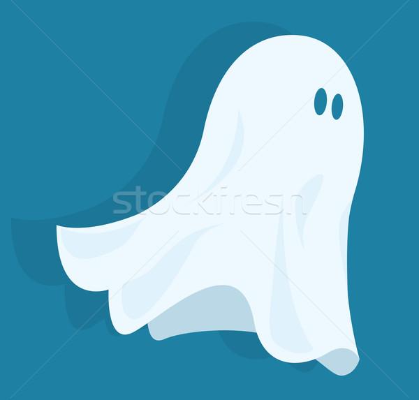 Engraçado halloween fantasma diversão Foto stock © curvabezier
