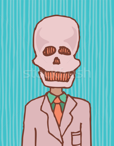 Death is a businessman / Funny skull Stock photo © curvabezier