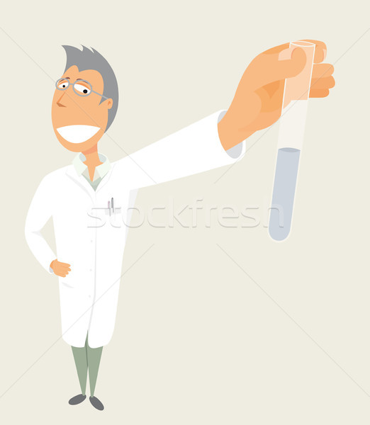 Bilim bilim adamı deney tüpü tıp kimya Stok fotoğraf © curvabezier