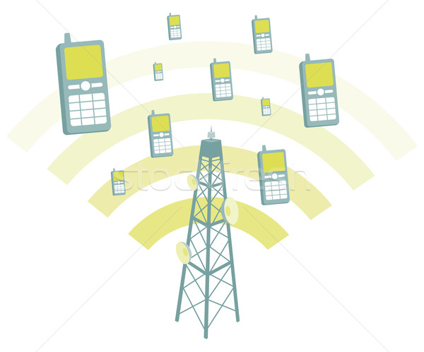 Antenna transmtting mobile phones Stock photo © curvabezier