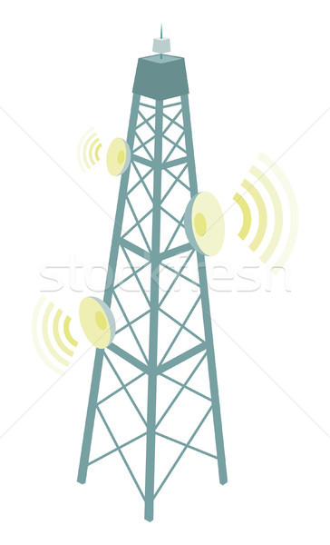 Telecommunication Antenna Stock photo © curvabezier