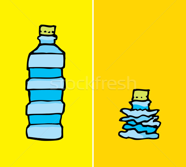Compacted plastic bottle Stock photo © curvabezier