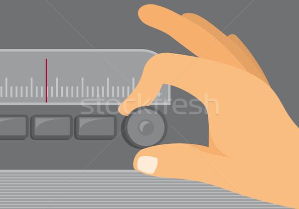 Eski radyo ayar müzik Stok fotoğraf © curvabezier