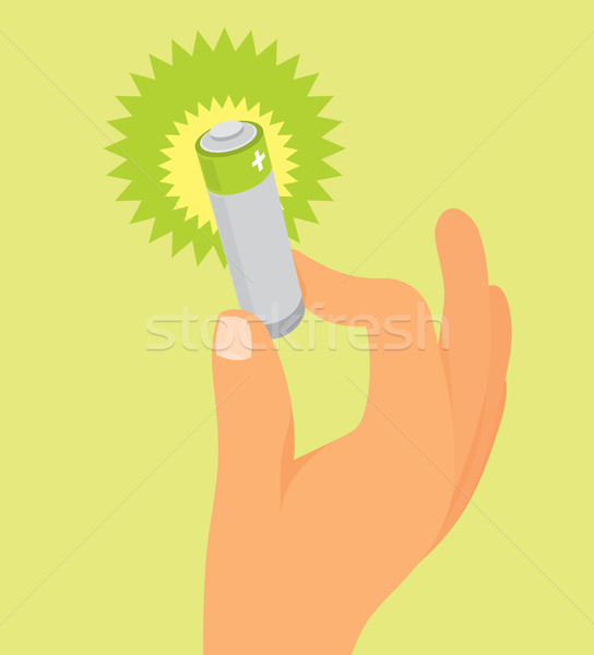 手 緑 バッテリー 技術 科学 ストックフォト © curvabezier