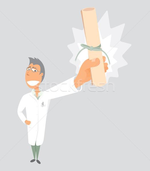 Phd Doctor Graduation / Scientist diploma Stock photo © curvabezier