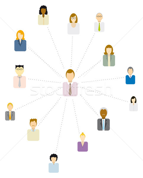 Forum Moderator / Social and business network or People icon Stock photo © curvabezier