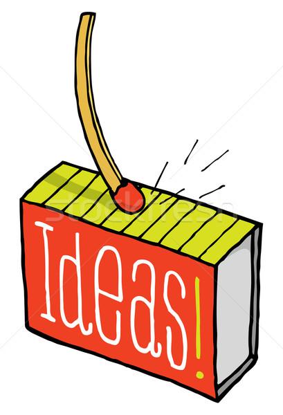 Match sparks an idea Stock photo © curvabezier