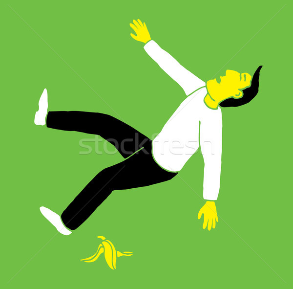 Slipping on a banana Stock photo © curvabezier