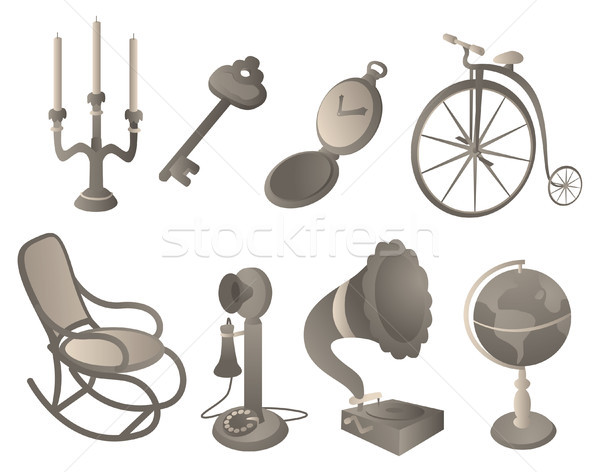 Antique objects set Stock photo © curvabezier