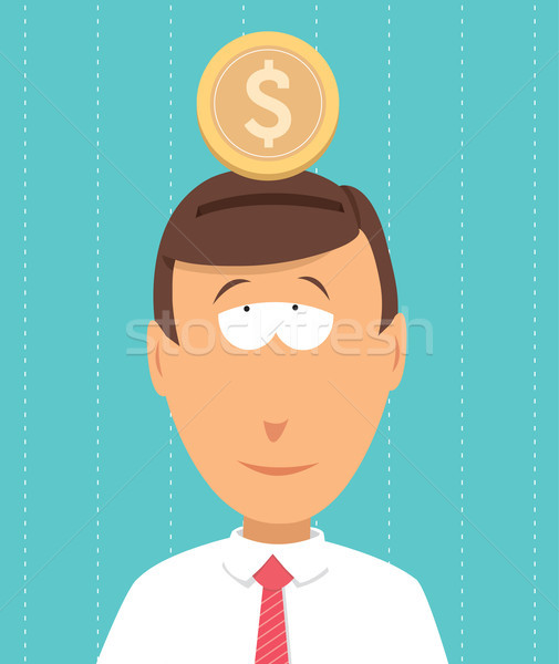 Besparing geld budget kijken business zakenman Stockfoto © curvabezier