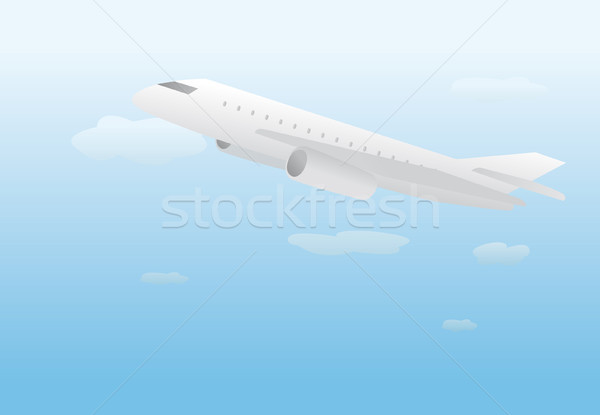 Plane lifting off / Flying Stock photo © curvabezier