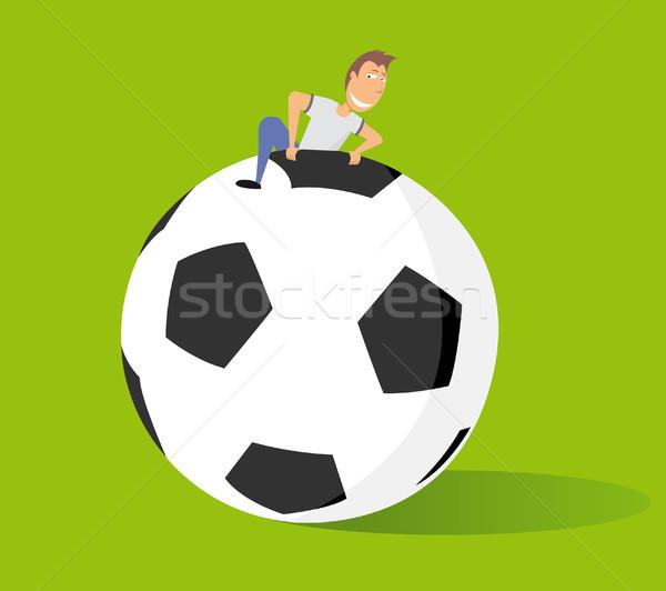 Enorme futebol grande ventilador futebol Foto stock © curvabezier