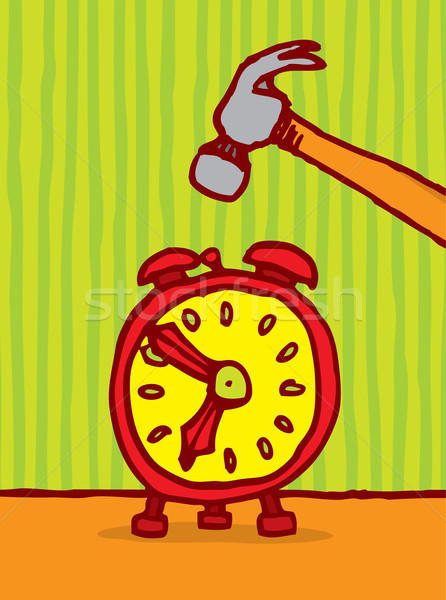 Temps alarme horloge cartoon Photo stock © curvabezier