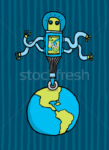 Alien domination over earth Stock photo © curvabezier
