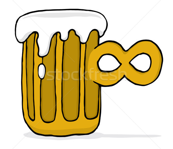 Endless infinite beer Stock photo © curvabezier