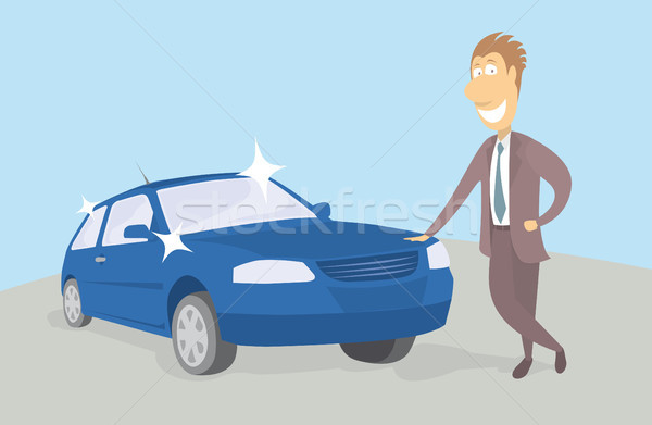 Proud new car owner Stock photo © curvabezier