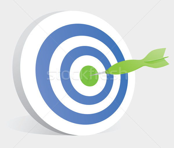 Dart hitting center of a target / Bullseye Stock photo © curvabezier