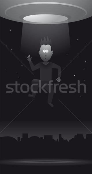 Sci-Fi Alien Abduction Stock photo © curvabezier