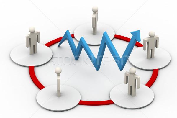 Ağ insanlar bilgisayar kalabalık işadamı web Stok fotoğraf © cuteimage