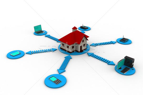 Akıllı ev teknoloji eğitim web zaman Stok fotoğraf © cuteimage