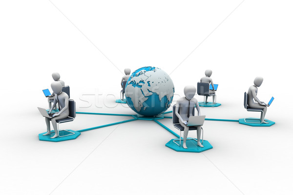 сетей люди мира аннотация друзей сеть Сток-фото © cuteimage