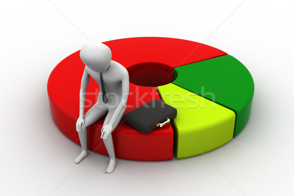 Homme d'affaires ordinateur portable affaires Photo stock © cuteimage