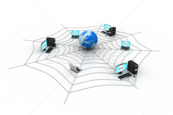 интернет компьютер мира свет Мир технологий Сток-фото © cuteimage