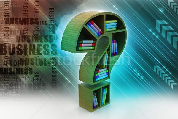 Modelo ponto de interrogação papel escolas educação Foto stock © cuteimage