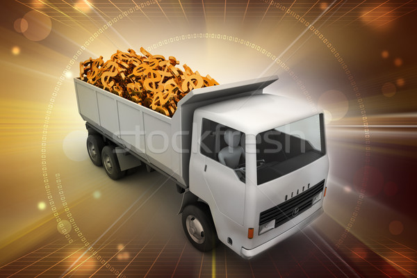 грузовика доллара деньги работу путешествия банка Сток-фото © cuteimage