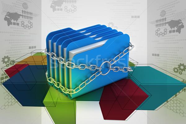 папке заблокированный цепями бизнеса служба интернет Сток-фото © cuteimage