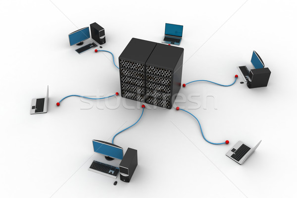 Computador networking negócio internet globo abstrato Foto stock © cuteimage