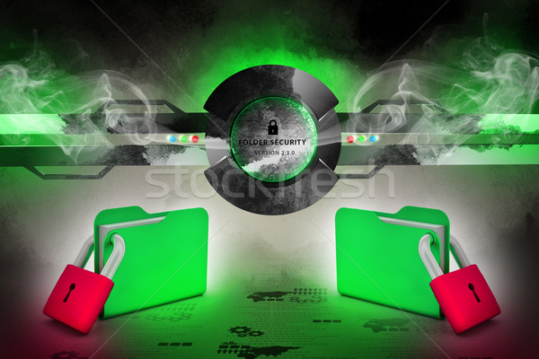 Foto stock: Dobrador · trancado · escritório · papel · metal · teia