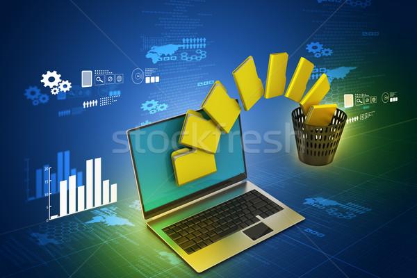 Datei Ordner Umbuchung Internet Technologie Netzwerk Stock foto © cuteimage