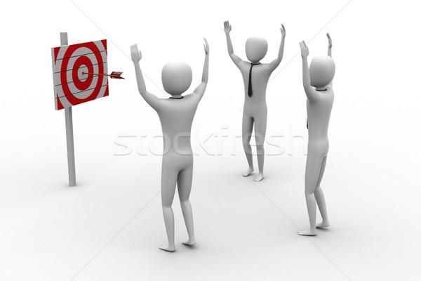 Hedef oklar spor kırmızı başarı Stok fotoğraf © cuteimage