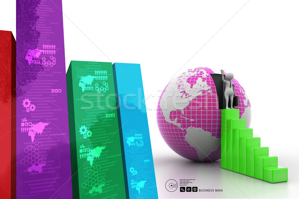 3d man going to growth Stock photo © cuteimage
