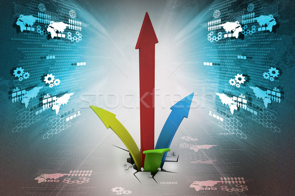Breaking through to success as a financial graph Stock photo © cuteimage