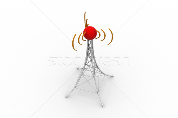 Signal tower with networking Stock photo © cuteimage