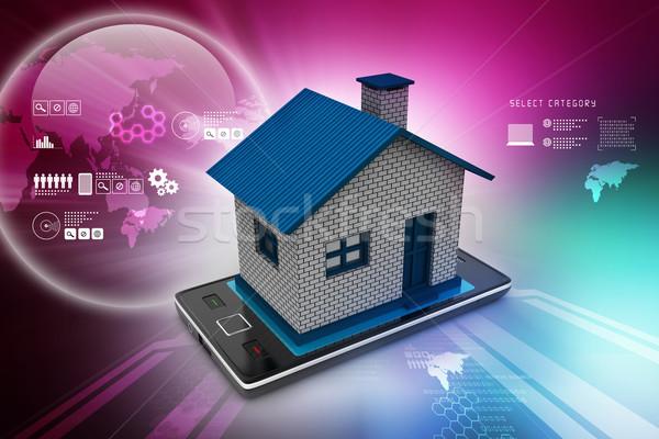 домой компьютер свет технологий безопасности Сток-фото © cuteimage